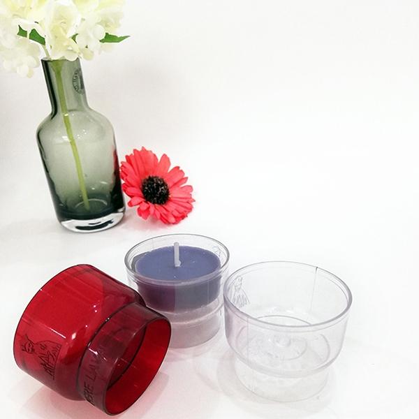 PC105酒杯形透明塑料茶蜡壳