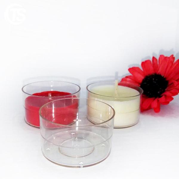 PC2透明塑料茶蜡杯